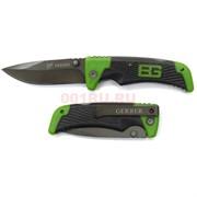 Нож раскладной Gerber зеленый с резиновой ручкой