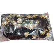 Резинка для волос «жемчужина в цветке» 60 шт/уп