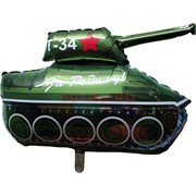 Шарик из фольги «Танк Т-34 За Родину!» 45x70 см