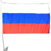 Флаг России без герба на машину 30х45 см с креплением 12 шт/бл