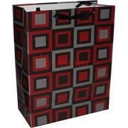 Пакет подарочный (MC-4475) «клетка, узоры» 26х32 см 20 шт/уп