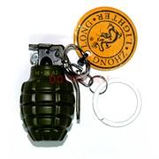 Зажигалка брелок «граната M26A2» металлическая кремневая