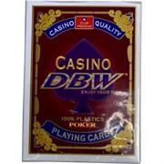 Карты для покера Casino DBW 100% пластик 54 карты