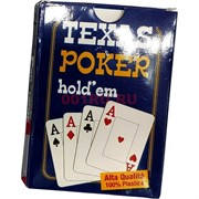 Карты для покера Texas Poker Hold'em 100% пластик 54 карты
