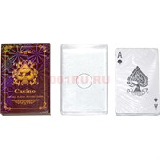 Карты для покера Casino «коричневые» 100% пластик 54 карты