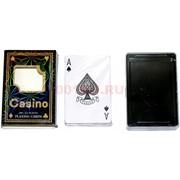 Карты для покера Casino «черные» 100% пластик 54 карты