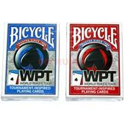 Карты для покера Bicycle WPT 100% пластик 54 карты