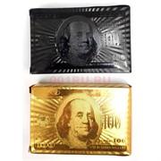 Карты для покера 100 долларов с металлическим покрытием 144 шт/кор
