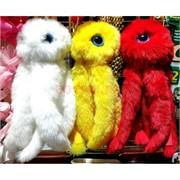 Брелок подвеска игрушка пушистая «осьминог» цвета в ассортименте