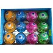 Мячик светящийся с водой 55 мм «глаз» 12 шт/уп