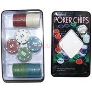 """Набор фишек для покера """"100 фишек"""""""
