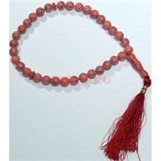 Четки из прессованного камня (розовый коралл) 10 мм