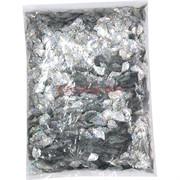 Пайетки для рукоделия «листочки серебро» 500 гр