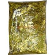 Пайетки для рукоделия «листочки золото» 500 гр
