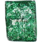 Пайетки для рукоделия «круглые зеленые» 500 гр