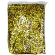 Пайетки для рукоделия «круглые золото» 500 гр