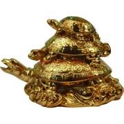 Нецкэ Три черепахи под золото 12х8 см