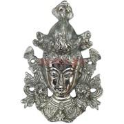 Маска металлическая Тара 19х13 см под серебро