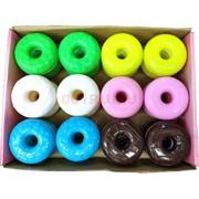 Лизун мялка «пончик донат» цветной 24 шт/уп