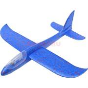 Игрушка самолет из пенопласта с подсветкой малый
