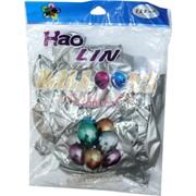 Шарики Hao Lin 12 дюймов хром «серебряный цвет» 50 шт