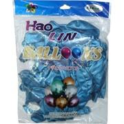 Шарики Hao Lin 12 дюймов хром «бирюзовый цвет» 50 шт