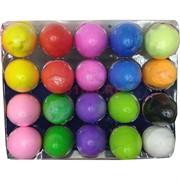 Пластилин (легкая глина) цветной в яйце 8,5x5,5 см 24 шт/уп