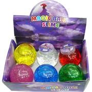 Magic Ball Slime слайм-лизун большой прозрачный 6 шт/уп