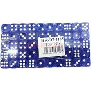 Кости игральные (HR-D7-1165) синий цвет 10 мм 100 шт