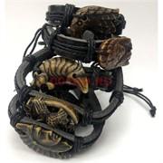 Черные браслеты под кожу (МУ-43) «Клыки» 12 шт/уп