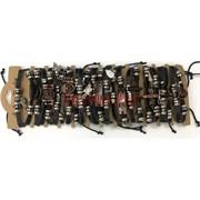 Браслеты под кожу (М-101) с металлической фурнитурой 12 шт/уп