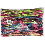 Разноцветные (MY-65) браслеты в виде застежки-молнии 100 шт/уп