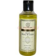 Шампунь khadi «Honey & Lemon» (Индия) из натуральных компонентов