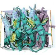 Резиновая игрушка «Цветной крокодил» 12 шт/уп