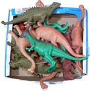 Игрушка резиновая 13 см «Динозавры» со звуком по 12 шт/уп