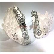 Шкатулка со стразами «Лебеди» 13 см