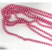 Бусы пластмассовые 8 мм 120 см розовые