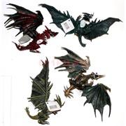 Драконы из твердой резины 4 вида
