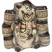 Набор керамический «Свинка» с подковой +6 рюмок