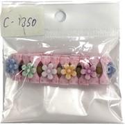 Браслеты (C1350) детский с цветками 12 шт/уп