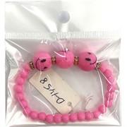 Браслет (D-1458) розовый детский 12 шт/уп