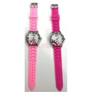 Часы силиконовые розовые 12 шт/уп