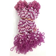 Фенечки в связке из бисера фиолетовые (100 шт)