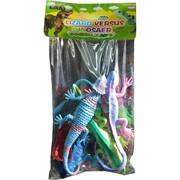 Игуаны и ящерицы пищащие резиновые  4 шт