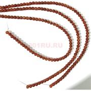 Бусины сердолик круглые 6 мм для рукоделия на нитке 40 см