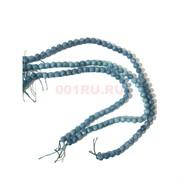 Бусины голубой кварц круглые 8 мм для рукоделия на нитке 40 см