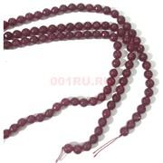 Бусины агат граненые розовые 12 мм для рукоделия на нитке 40 см