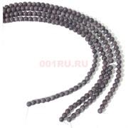 Бусины кахолонг круглые полосатые 8 мм для рукоделия на нитке 40 см