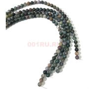 Бусины из яшмы круглые разноцветные 10 мм для рукоделия на нитке 40 см