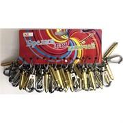 Брелки металлические «Пуля с карабином»